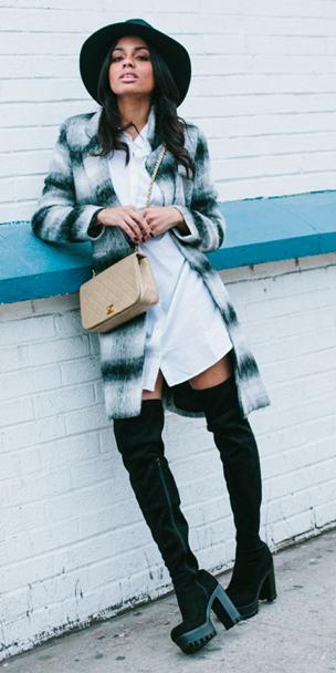 white-dress-black-jacket-coat-hat-black-shoe-boots-tan-bag-shirt-wear-style-fashion-fall-winter-hat-street-brunette-lunch.jpg