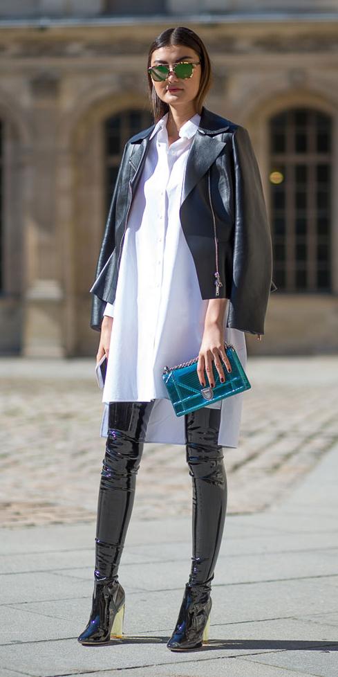 white-dress-shirt-black-jacket-moto-sun-hairr-blue-bag-patent-otk-black-shoe-boots-spring-summer-dinner.jpg