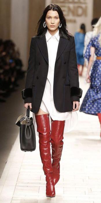 white-dress-shirt-red-shoe-boots-otk-black-bag-hoops-black-jacket-blazer-boyfriend-fall-winter-brun-lunch.jpg