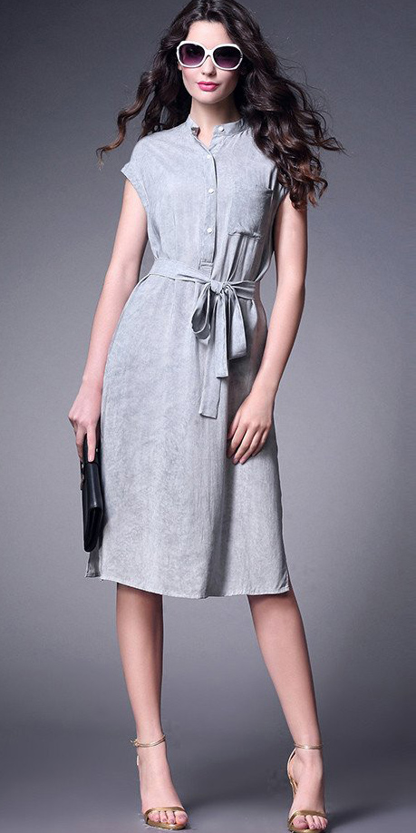 grayl-dress-tan-shoe-sandalh-sun-black-bag-clutch-shirt-wear-style-fashion-spring-summer-belt-brunette-work.jpg
