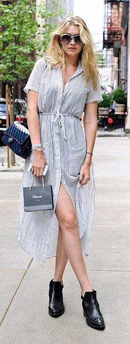 grayl-dress-zprint-stripe-black-shoe-booties-sun-shirt-wear-style-midi-spring-summer-gigihadid-model-street-blonde-lunch.jpg