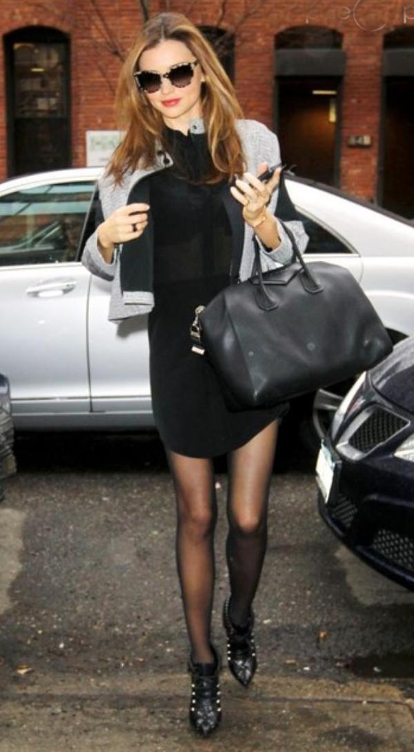 black-dress-grayl-jacket-black-shoe-booties-black-tights-black-bag-sun-shirt-wear-style-fashion-fall-winter-mirandakerr-celebrity-model-street-hairr-classic-lunch.jpg