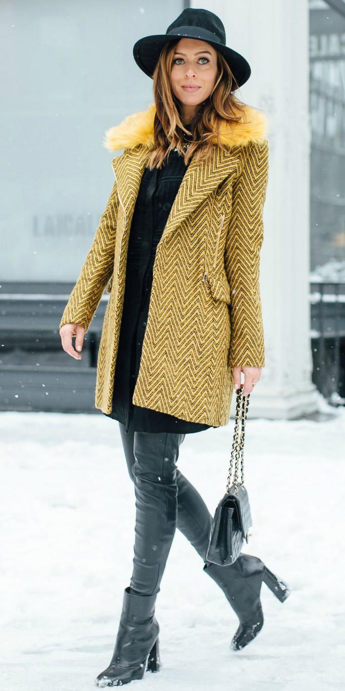 black-dress-shirt-hat-black-bag-black-shoe-boots-otk-yellow-jacket-coat-fall-winter-hairr-lunch.jpg