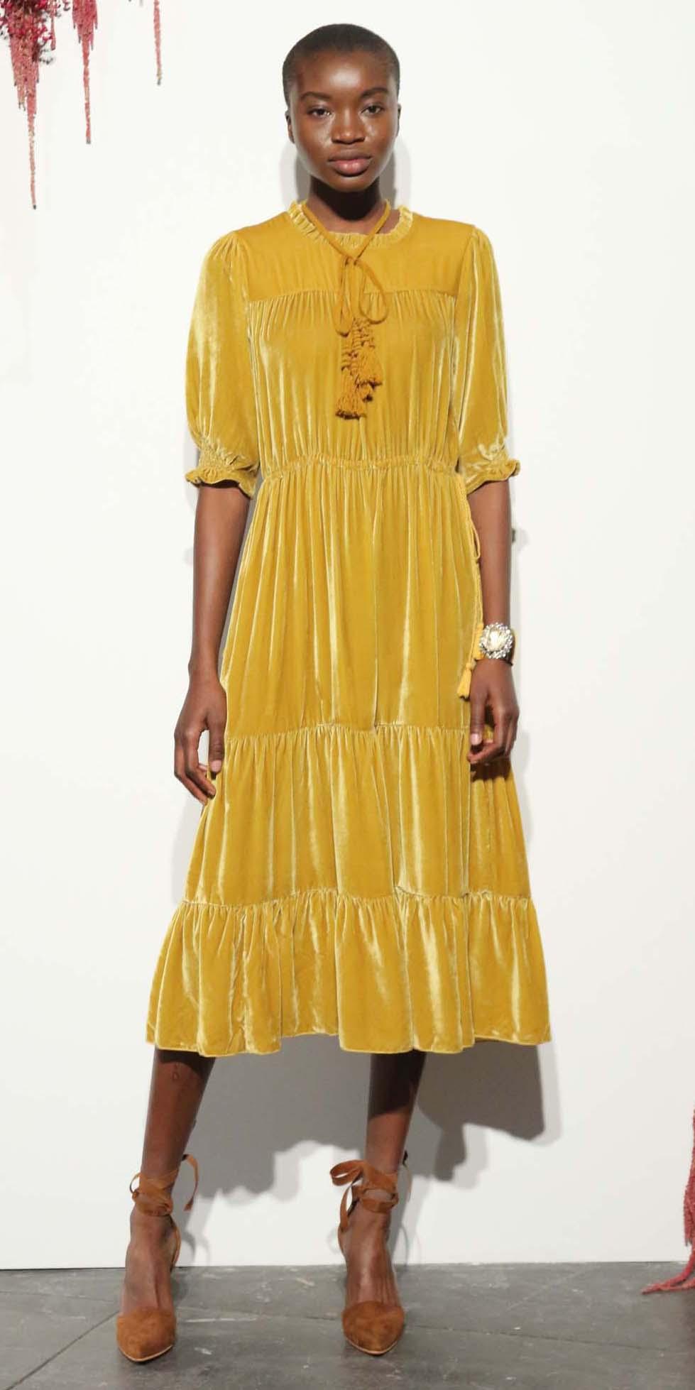 yellow-dress-peasant-midi-velvet-brun-cognac-shoe-pumps-howtowear-fashion-fall-winter-dinner.jpg