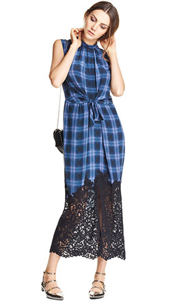 blue-med-dress-zprint-plaid-gray-shoe-flats-black-bag-bun-midi-wear-style-fashion-spring-summer-hairr-lunch.jpg
