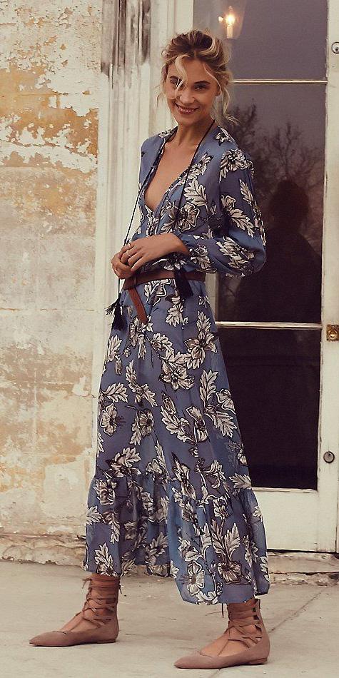 blue-med-dress-midi-bun-tan-shoe-flats-print-peasant-spring-summer-blonde-lunch.jpg