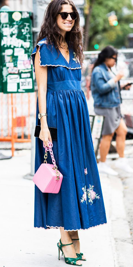 what-to-wear-for-a-spring-wedding-guest-outfit-blue-med-dress-peasant-midi-pink-bag-hairr-green-shoe-sandalh-dinner.jpg