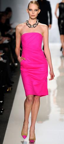 pink-magenta-dress-necklace-magenta-shoe-pumps-bun-runway-strapless-bodycon-howtowear-fashion-style-outfit-spring-summer-blonde-dinner.jpg