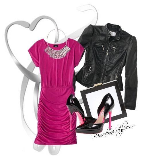 r-pink-magenta-dress-bodycon-bib-necklace-black-jacket-moto-black-shoe-pumps-black-bag-clutch-valentinesday-howtowear-fashion-style-outfit-spring-summer-dinner.jpg