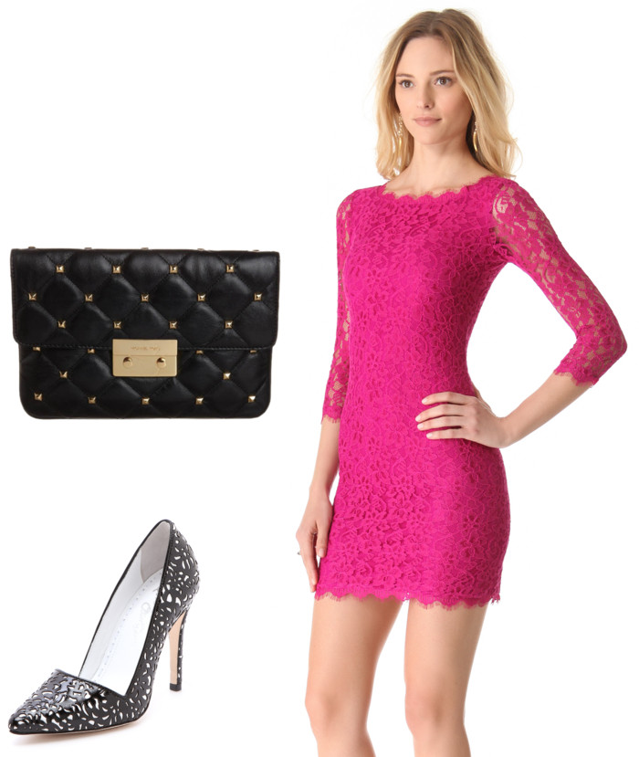 pink-magenta-dress-bodycon-lace-mini-black-bag-black-shoe-pumps-howtowear-valentinesday-outfit-fall-winter-dinner.jpg