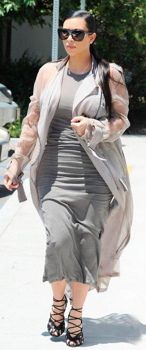 grayl-dress-bodycon-midi-grayl-jacket-coat-sheer-sun-pony-black-shoe-sandalh-kimkardashian-brun-spring-summer-lunch.jpg