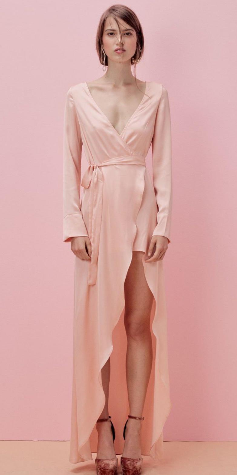pink-light-dress-wrap-maxi-pink-shoe-pumps-hairr-spring-summer-dinner.JPG