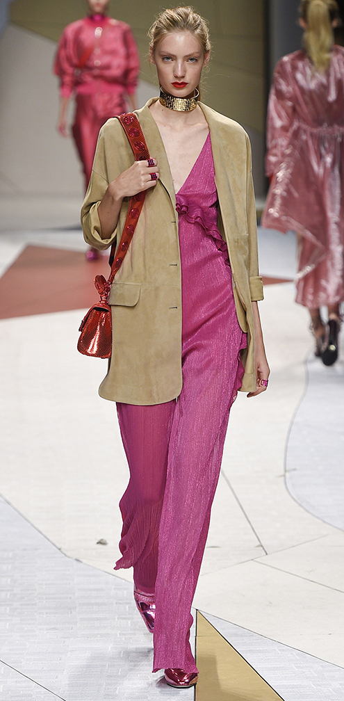 r-pink-magenta-dress-tan-jacket-blazer-boyfriend-red-bag-choker-bun-runway-maxi-style-outfit-spring-summer-blonde-lunch.jpg