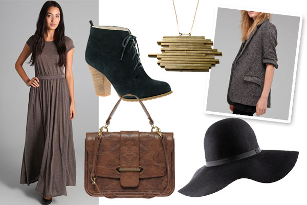brown-dress-grayd-jacket-blazer-black-shoe-booties-necklace-pend-hat-brown-bag-maxi-howtowear-fashion-style-outfit-fall-winter-lunch.jpg