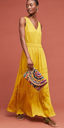 what-to-wear-for-a-summer-wedding-guest-outfit-yellow-dress-maxi-tan-bag-clutch-brun-dinner.jpg