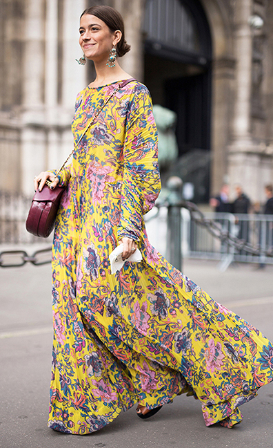 yellow-dress-maxi-floral-print-burgundy-bag-bun-earrings-hairr-fall-winter-lunch.jpg