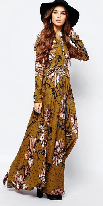 yellow-dress-peasant-print-floral-hat-brun-maxi-howtowear-fashion-fall-winter-lunch.jpg