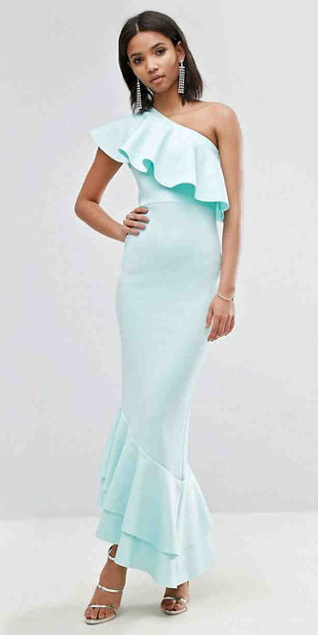 what-to-wear-for-a-summer-wedding-guest-outfit-blue-light-dress-maxi-oneshoulder-brun-earrings-gray-shoe-sandalh-silver-ruffle-gown-dinner.jpg