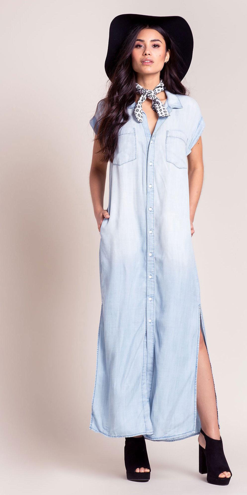 blue-light-dress-shirt-maxi-hat-white-scarf-neck-bandana-black-shoe-sandalh-spring-summer-brun-lunch.jpg