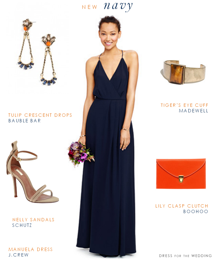 blue-navy-dress-maxi-orange-bag-clutch-bracelet-tan-shoe-sandalh-blue-earrings-spring-summer-wedding-brun-dinner.jpg