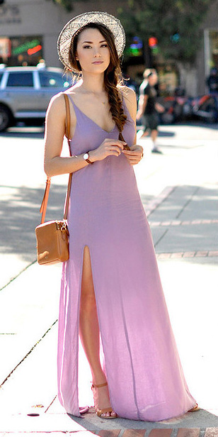 purple-light-dress-maxi-cognac-bag-cognac-shoe-sandalh-brun-braid-hat-spring-summer-lunch.jpg