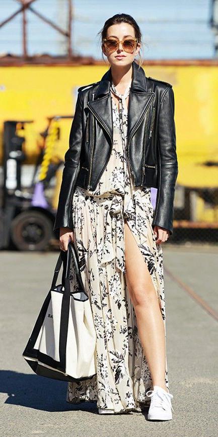white-dress-zprint-grap-black-jacket-moto-white-shoe-sneakers-howtowear-fashion-style-outfit-fall-winter-maxi-leather-sneakers-street-sun-brunette-weekend.jpg