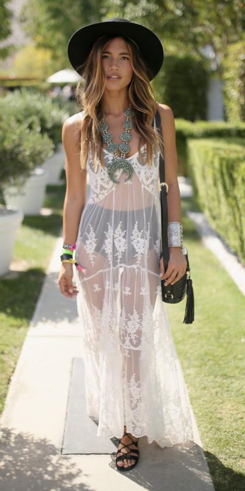 white-dress-maxi-sheer-seethrough-black-bag-black-shoe-sandals-hat-hairr-necklace-spring-summer-weekend.jpg
