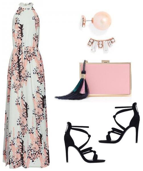 white-dress-maxi-weddingguest-black-shoe-sandalh-pink-bag-clutch-pearl-studs-floral-print-spring-summer-dinner.jpg