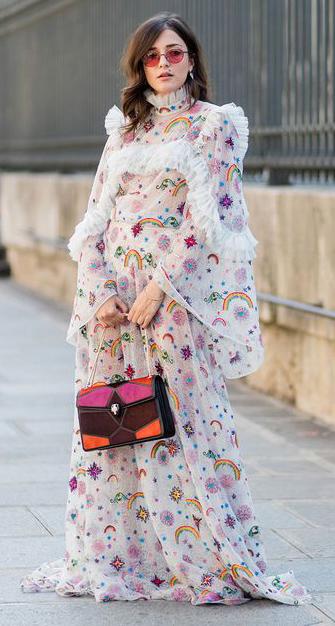 white-dress-peasant-maxi-print-sun-hairr-burgundy-bag-fall-winter-dinner.jpg