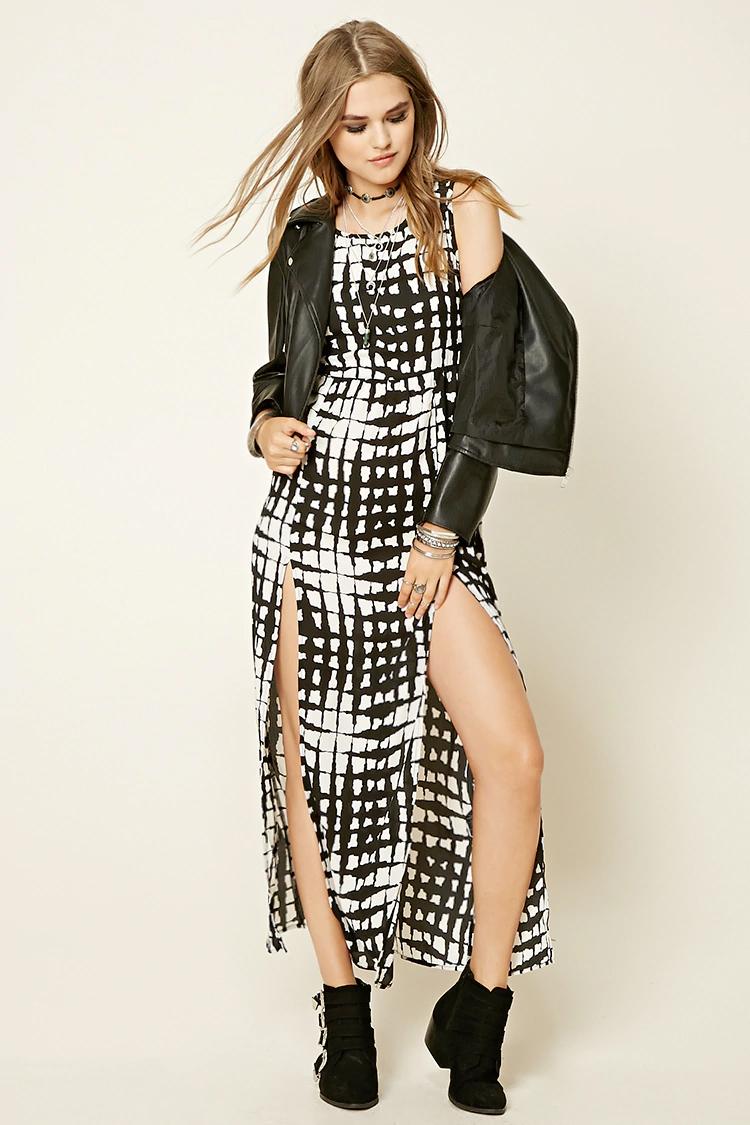 white-dress-zprint-graphic-black-jacket-moto-black-shoe-booties-maxi-wear-style-fashion-spring-summer-choker-blonde-dinner.jpg