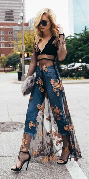 black-dress-maxi-sheer-layer-black-bralette-blue-med-crop-jeans-black-shoe-sandalh-sun-spring-summer-blonde-dinner.jpg