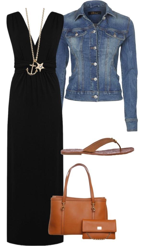 black-dress-maxi-necklace-pend-blue-med-jacket-jean-cognac-bag-tote-cognac-shoe-sandals-howtowear-fashion-style-outfit-spring-summer-weekend.jpg