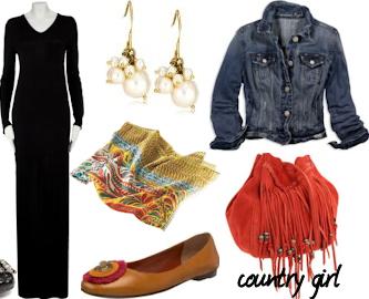 black-dress-blue-med-jacket-jean-orange-bag-tan-shoe-flats-yellow-scarf-earrings-maxi-howtowear-fashion-style-outfit-fall-winter-lunch.jpg