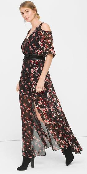 black-dress-zprint-floral-black-shoe-booties-bun-maxi-wear-style-fashion-fall-winter-wide-belt-cutout-whitehouseblackmarket-blonde-dinner.jpg