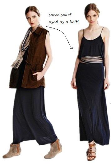 black-dress-brown-vest-trench-tan-shoe-booties-tan-scarf-maxi-wear-style-fashion-fall-winter-hairr-weekend.jpg