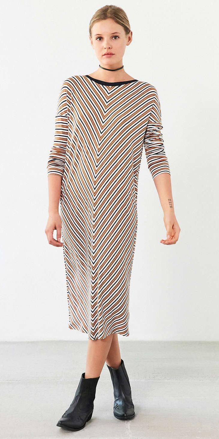 camel-dress-tshirt-stripe-midi-choker-black-shoe-booties-fall-winter-blonde-weekend.jpeg