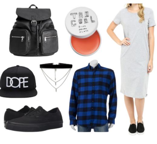 grayl-dress-blue-navy-plaid-shirt-black-shoe-sneakers-black-bag-pack-howtowear-fashion-style-outfit-fall-winter-tshirt-tiedaroundwaist-sneakers-hat-cap-necklace-cobalt-weekend.jpg