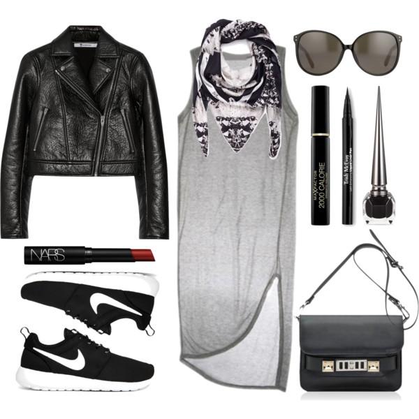 grayl-dress-black-jacket-moto-black-scarf-black-shoe-sneakers-black-bag-crossbody-howtowear-fashion-style-outfit-fall-winter-tshirt-basic-nike-sun-weekend.jpg