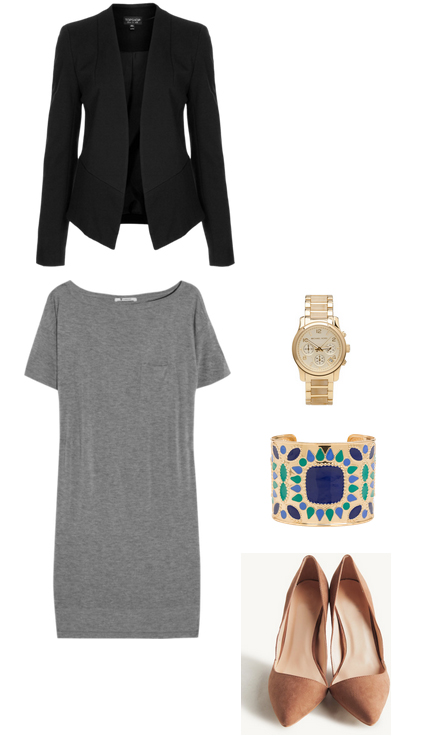 grayl-dress-black-jacket-blazer-watch-tan-shoe-pumps-tshirt-wear-style-fashion-spring-summer-bracelet-cuff-work.jpg