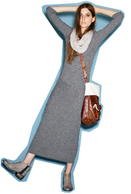 grayl-dress-grayl-scarf-gray-shoe-booties-brown-bag-maxi-hairr-tshirt-fashion-style-outfit-fall-winter-weekend.jpg