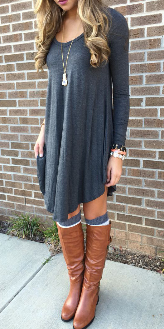 grayd-dress-cognac-shoe-boots-pend-necklace-tshirt-wear-style-fashion-fall-winter-socks-blonde-weekend.jpg