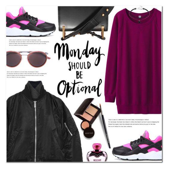 burgundy-dress-sweater-black-jacket-bomber-magenta-shoe-sneakers-sun-choker-black-bag-fall-winter-weekend.jpg
