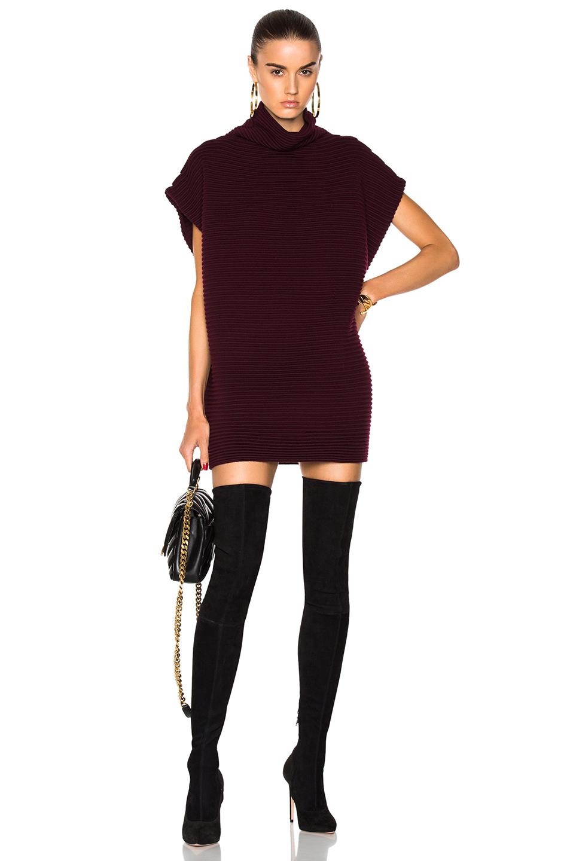 burgundy-dress-sweater-black-shoe-boots-otk-black-bag-hoops-hairr-fall-winter-dinner.jpg
