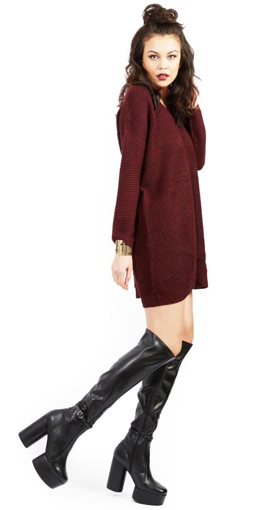 burgundy-dress-sweater-hairr-black-shoe-boots-fall-winter-dinner.jpg