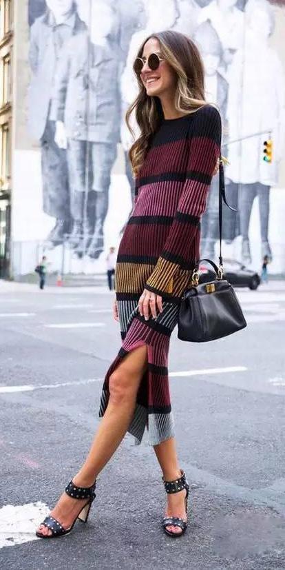 burgundy-dress-sweater-midi-stripe-black-bag-fall-winter-blonde-lunch.jpeg
