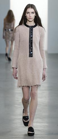 o-tan-dress-a-black-shoe-flats-loafers-sweater-wear-style-fashion-fall-winter-pleat-runway-office-hairr-work.jpg