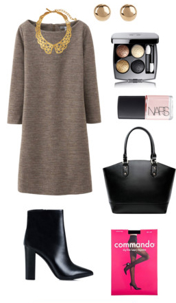 o-tan-dress-sweater-bib-necklace-black-tights-black-bag-black-shoe-booties-studs-nail-howtowear-fashion-style-outfit-fall-winter-work.jpg
