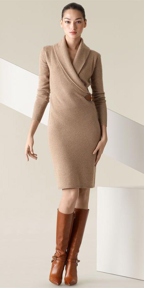 tan-dress-sweater-cognac-shoe-boots-bun-fall-winter-brun-work.jpg