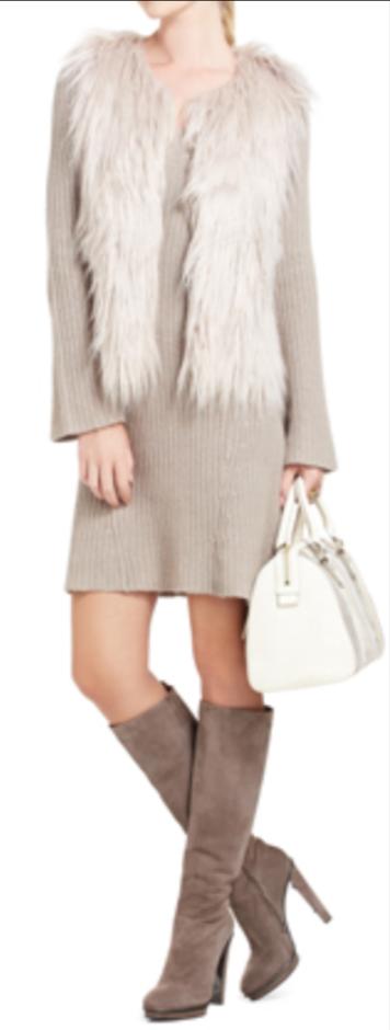 o-tan-dress-white-vest-fur-tan-shoe-boots-white-bag-sweater-white-wear-style-fashion-fall-winter-lunch.jpg