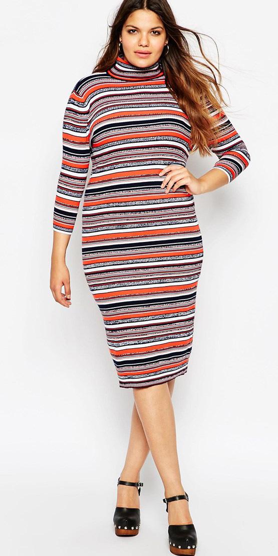 orange-dress-sweater-stripe-black-shoe-sandalh-turtleneck-fall-winter-hairr-lunch.jpg